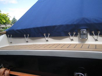 Custom made boat/yacht covers.